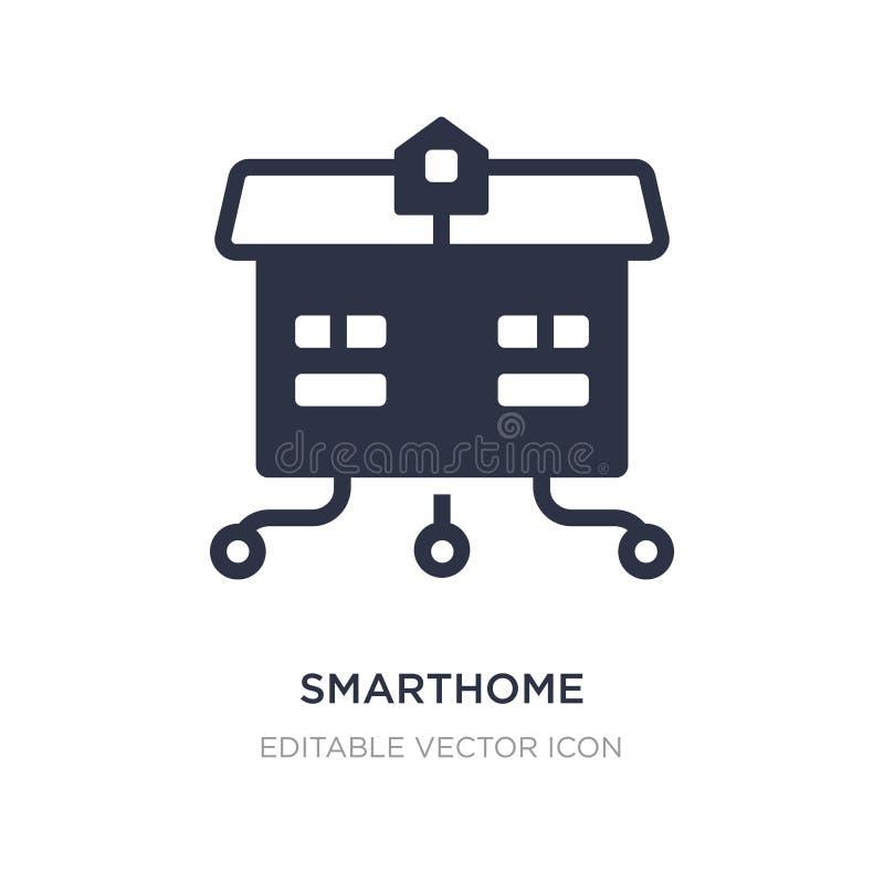 在白色背景的smarthome象 从其他概念的简单的元素例证 库存例证