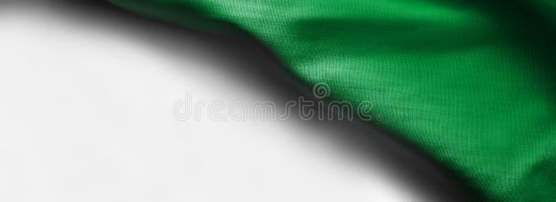 在白色背景-正确的顶面角落的利比亚旗子 库存例证
