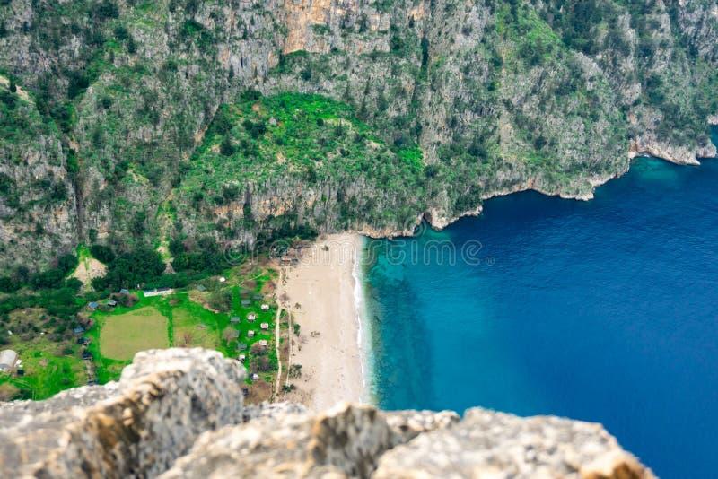 在蝴蝶谷的风景在土耳其 Lycian方式 夏天和假日概念 库存照片