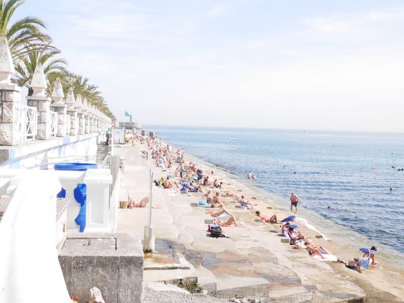 在西班牙镇北部 免版税库存图片