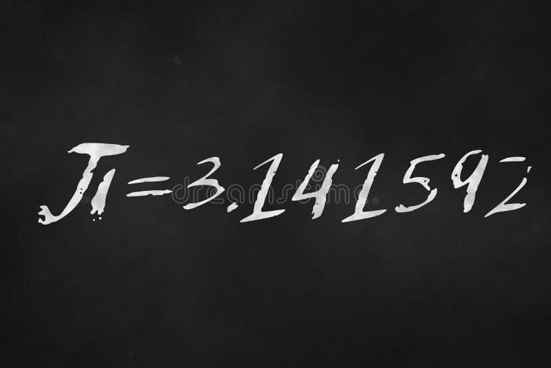 在黑板pi写的数字 皇族释放例证