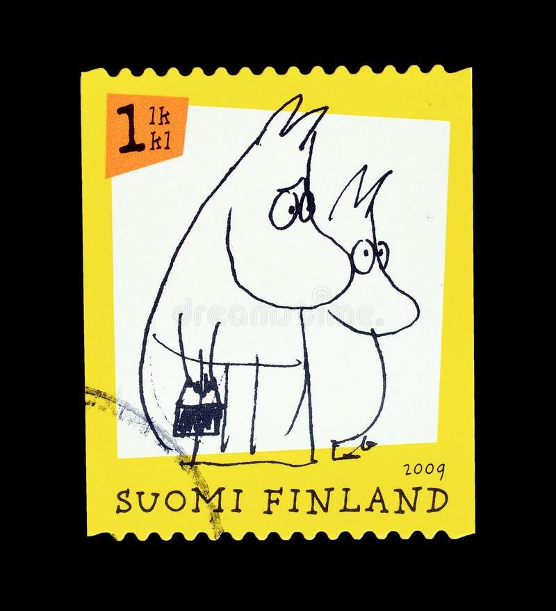 在邮票的Moomins 库存图片