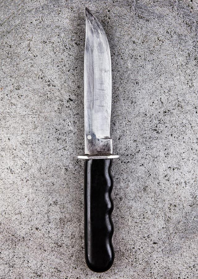 在金属的刀子 免版税图库摄影