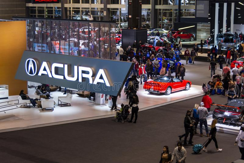 在2019年芝加哥车展的Acura 免版税库存图片