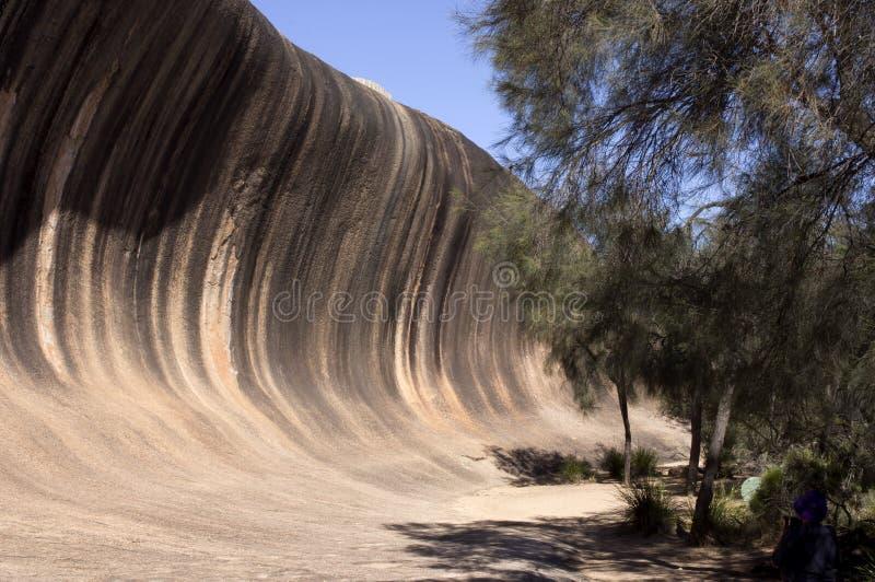 在Hyden,WA,澳大利亚附近的波浪岩石 库存照片