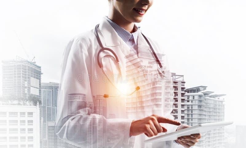 医学工业的现代技术 库存例证