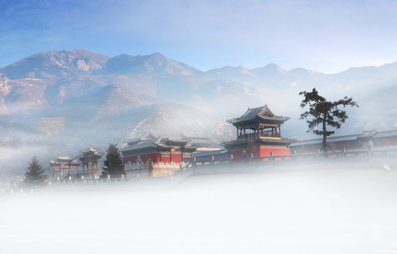 北岳恒山 China HengShan mountain stock image