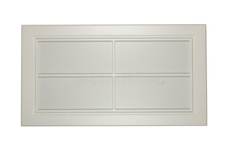 厨房的白色框架门面白色背景的 免版税库存图片