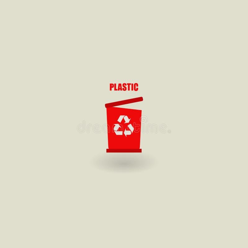 垃圾象,生态 8能在垃圾向量白色的eps例证 塑料的垃圾 也corel凹道例证向量 10 eps 皇族释放例证