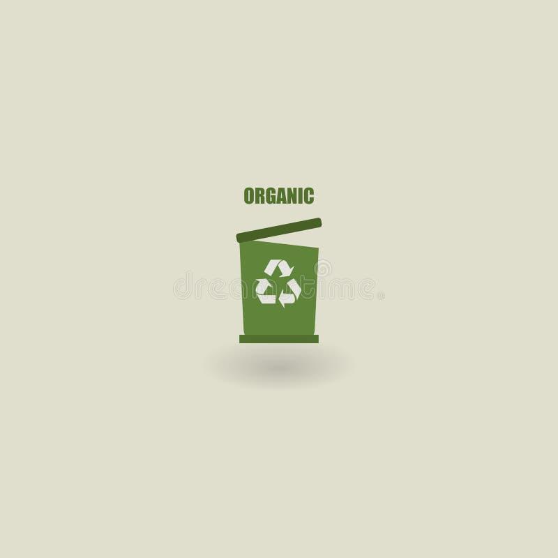 垃圾象,生态 8能在垃圾向量白色的eps例证 有机的垃圾 也corel凹道例证向量 10 eps 向量例证