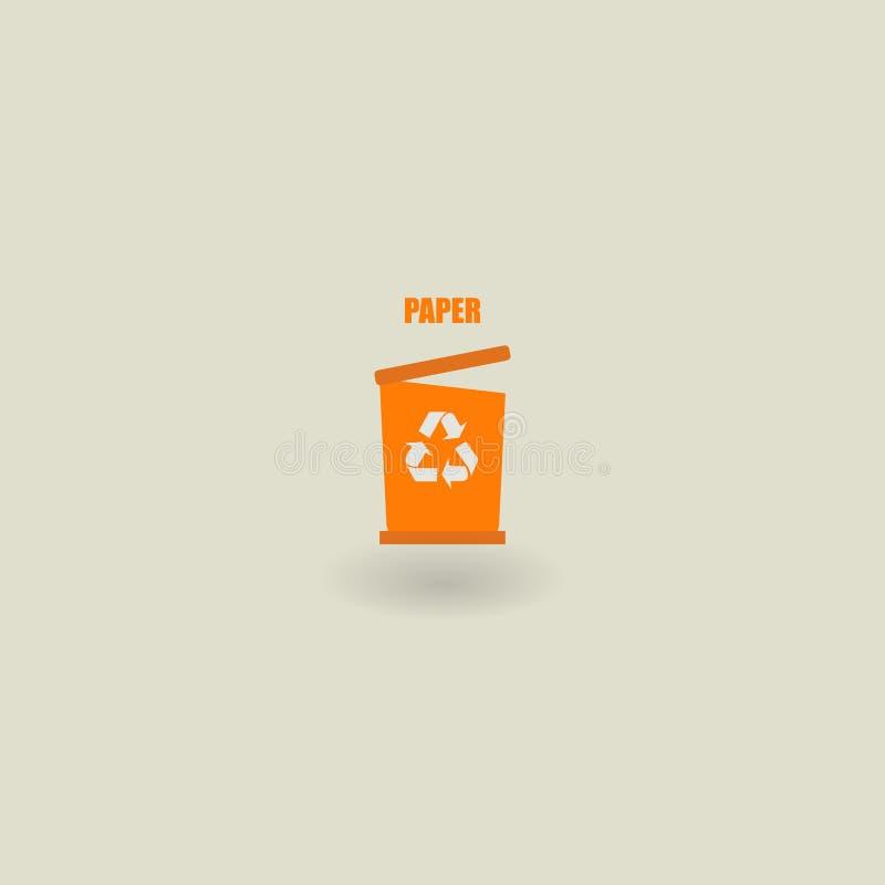 垃圾象,生态 8能在垃圾向量白色的eps例证 纸的垃圾 也corel凹道例证向量 10 eps 库存例证