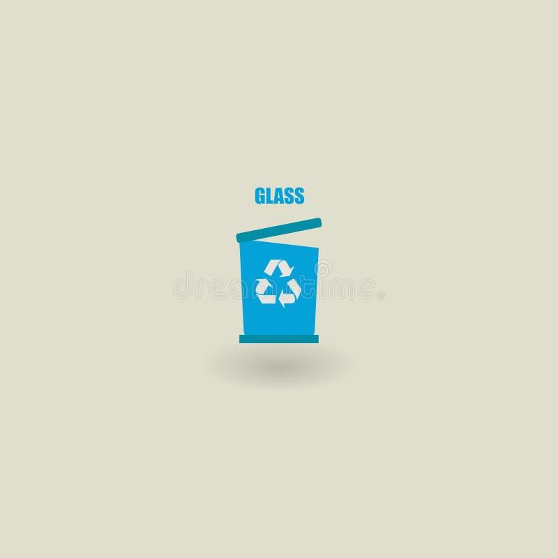 垃圾象,生态 8能在垃圾向量白色的eps例证 玻璃的垃圾 也corel凹道例证向量 10 eps 向量例证