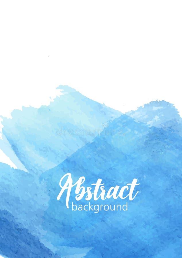 垂直的横幅模板或背景与概略的水彩油漆踪影、艺术性的刷子冲程、污点或者涂抹生动 向量例证