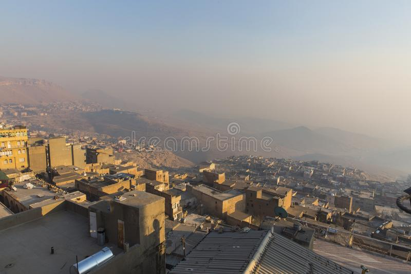 历史城市马尔丁在土耳其 库存照片