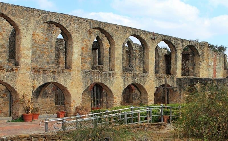 历史的老西部西班牙使命圣荷西 免版税库存照片
