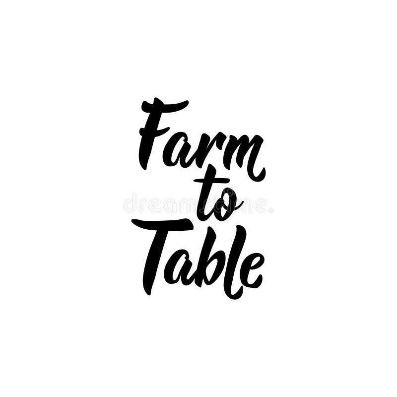 制表的农场 也corel凹道例证向量 字法 墨水例证 库存例证