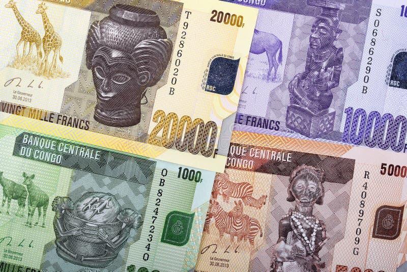 刚果法郎背景 免版税库存图片