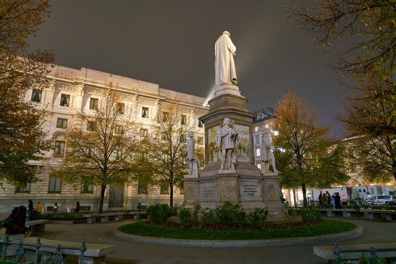 列奥纳多・达・芬奇雕象有四个门徒的 库存照片