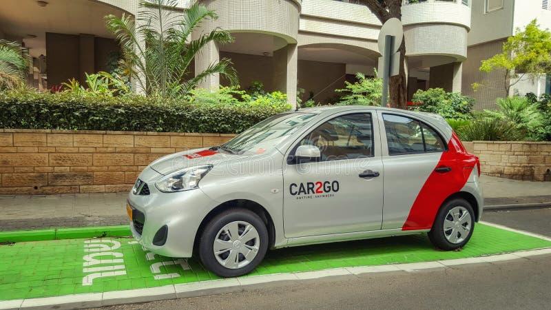 分享车的car2go的停车位 免版税库存照片