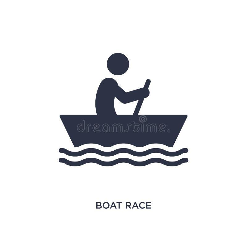łódkowatej rasy ikona na białym tle Prosta element ilustracja od aktywności i hobby pojęcia ilustracja wektor