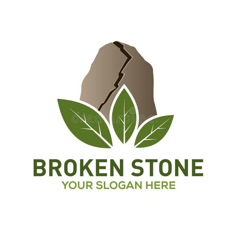 Łamany kamienny wektorowy logo szablon royalty ilustracja