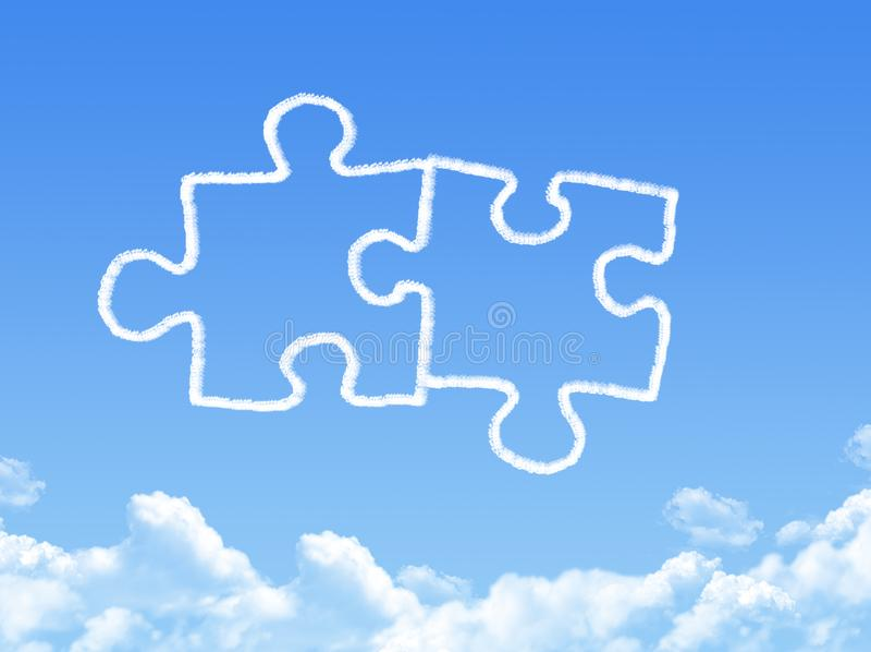 Łamigłówka kawałka chmury kształt ilustracja wektor