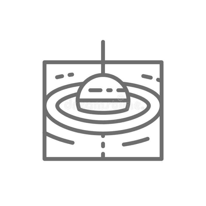 Łowić pływakowej linii ikonę royalty ilustracja
