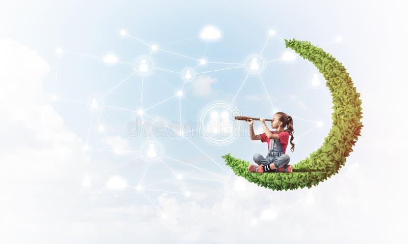 儿童互联网通信或在网上使用和父母控制想法  向量例证