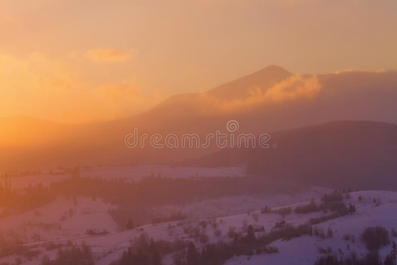 冬天早晨风景 库存照片