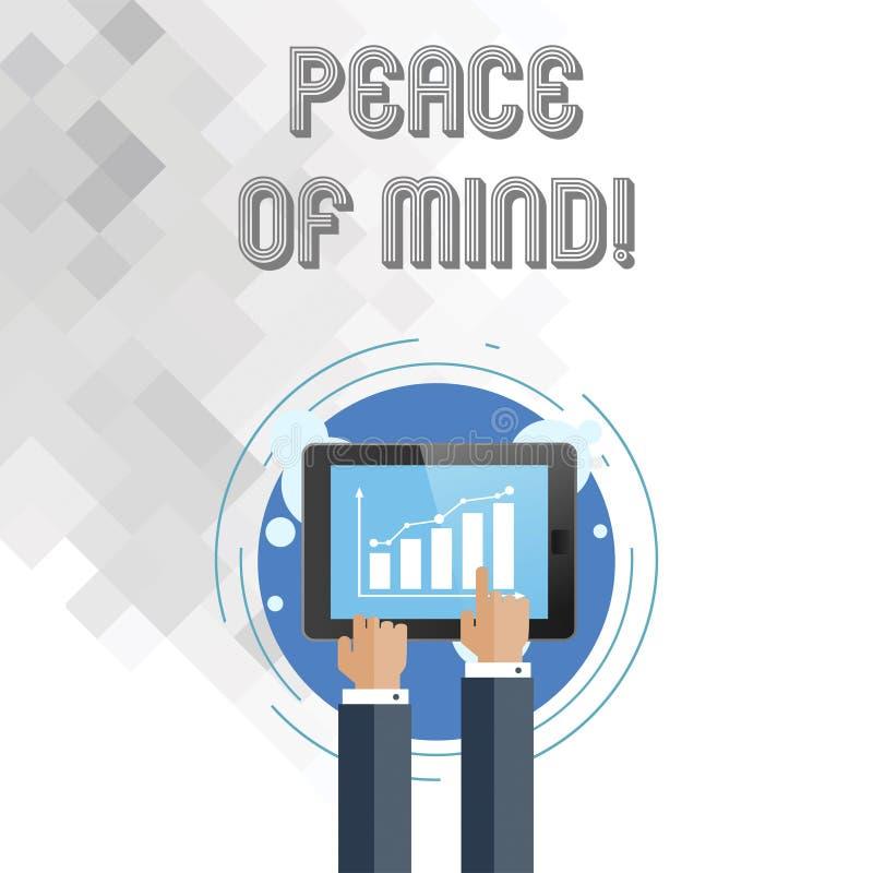 写头脑笔记showingPeace  陈列企业的照片平安满意对您做了和的事 向量例证