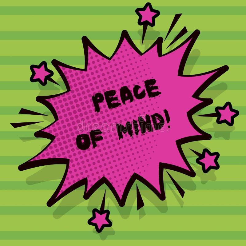 写文本心境的安宁的词 企业的概念为平安满意对您做了并且完成的事 库存例证