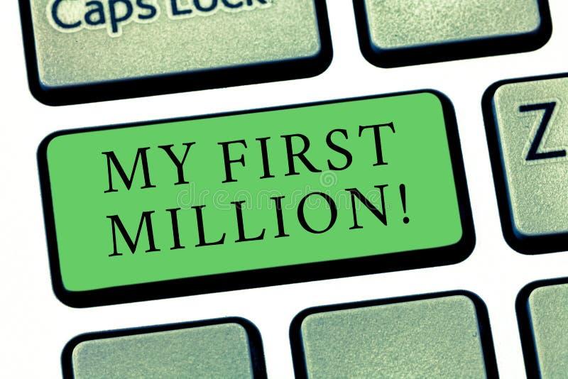 写文本我前百万的词 帮助您会集您的第一大现金的明细表的企业概念 图库摄影