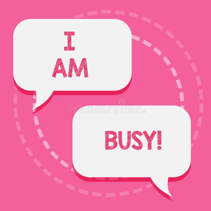 写文本我的词是繁忙的 有企业的概念为做很多的工作注重休闲的没有时间 库存例证