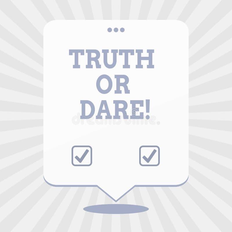 写文本真相或胆敢的词 企业概念为告诉实际事实或是愿意接受挑战 皇族释放例证