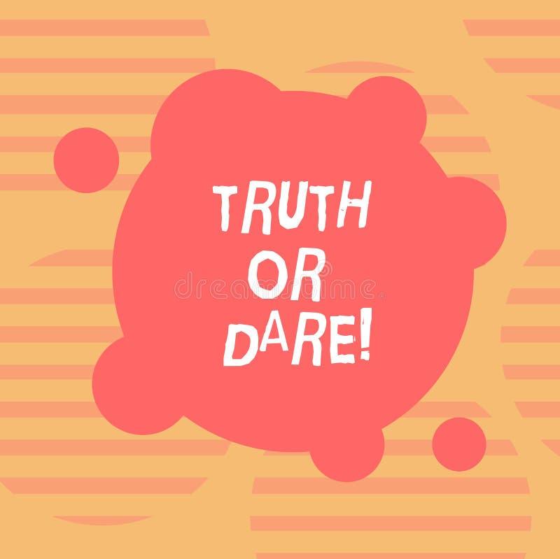 写文本真相或胆敢的词 企业概念为告诉实际事实或是愿意接受被扭屈的挑战空白 库存例证