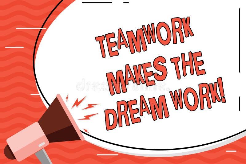 写文本配合的词做梦想工作 同志爱帮助的企业概念达到成功 向量例证