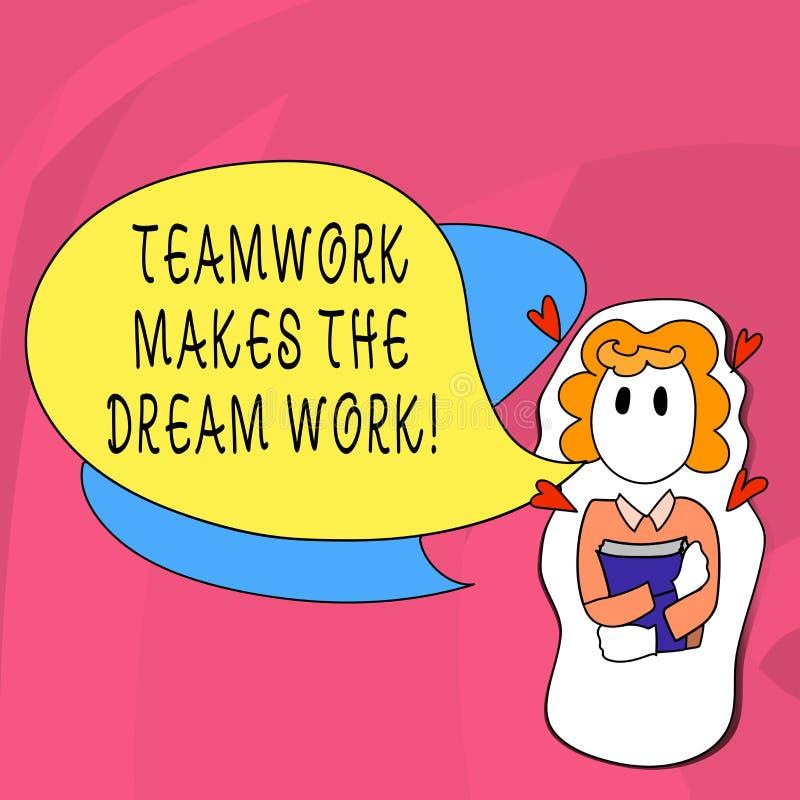 写文本配合的词做梦想工作 同志爱帮助的企业概念达到成功 库存例证