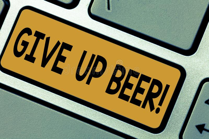写笔记陈列给啤酒 瘾健康饮食的企业照片陈列的中止饮用的酒精治疗 向量例证