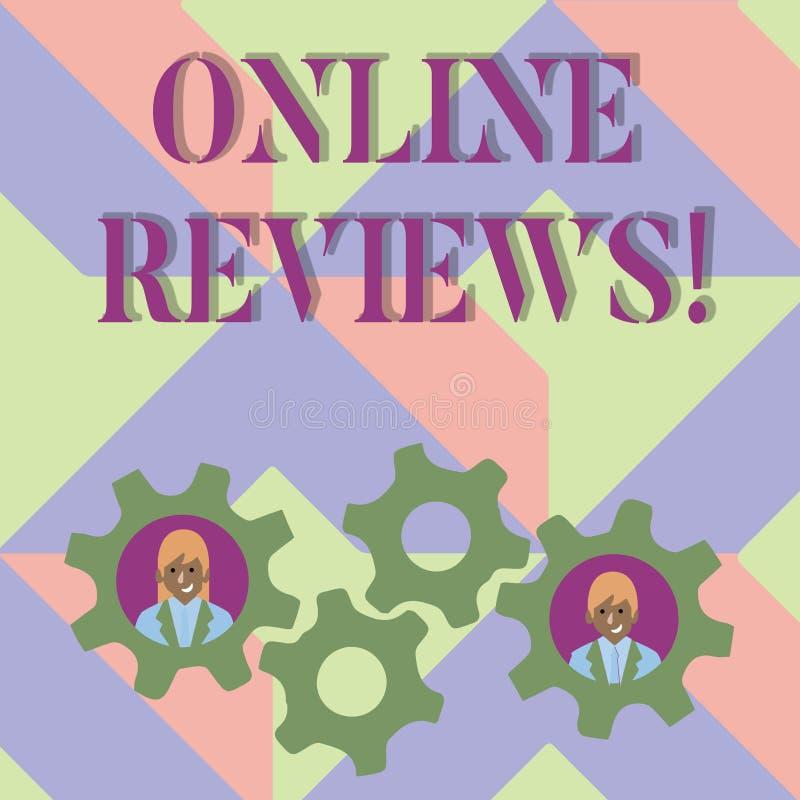写网上回顾的手写文本 概念意思互联网评估用户额定值观点满意 皇族释放例证