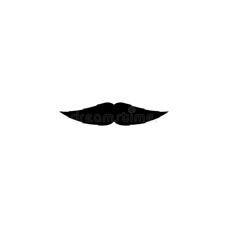 减速火箭的在白色背景隔绝的人的假髭黑色象 库存例证