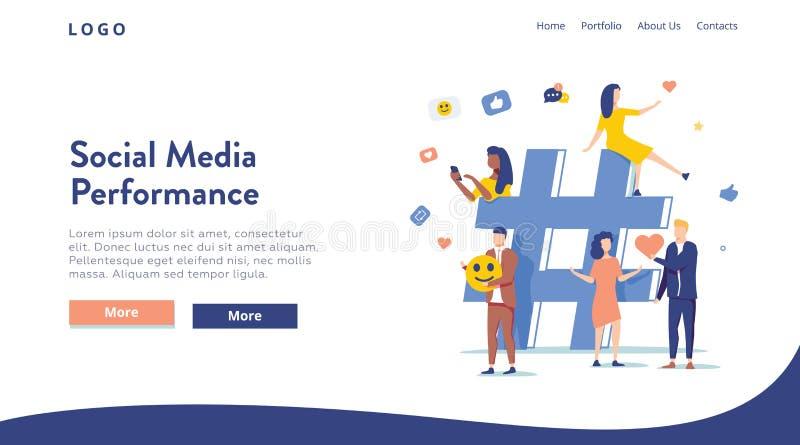 关系、网上约会和网络概念-分享信息的人们通过社会媒介平台 库存例证