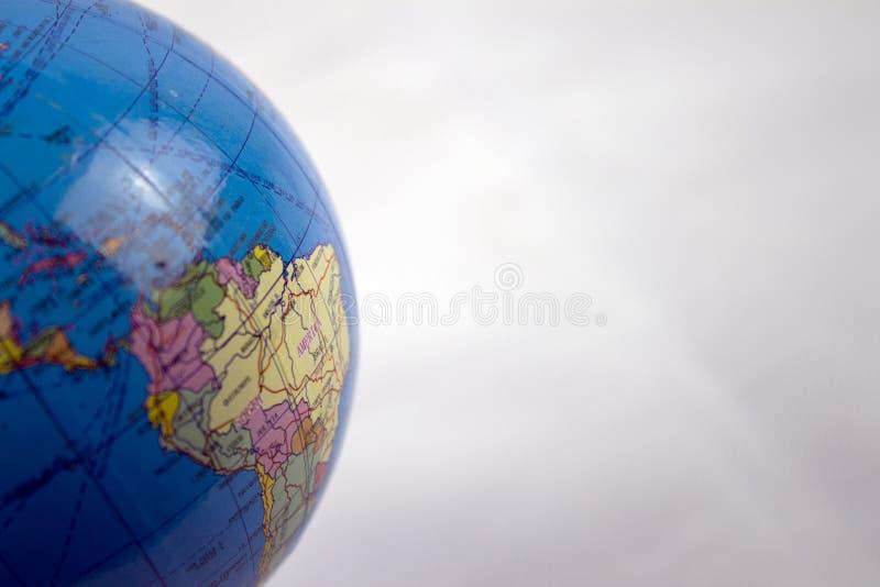 关闭地球的南美 免版税图库摄影