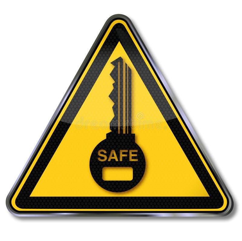 关键,保险柜和安全 库存例证