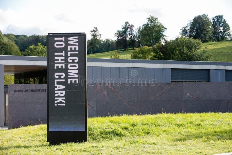 克拉克艺术学院在Williamstown马萨诸塞 免版税库存图片