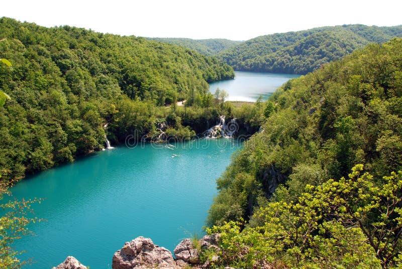 克罗地亚湖plitvice 库存图片