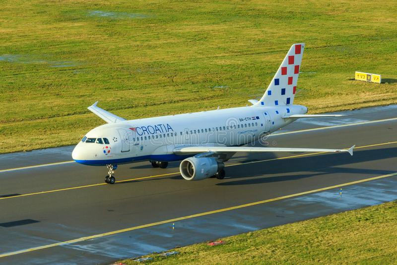 克罗地亚航空公司空中客车A319 图库摄影