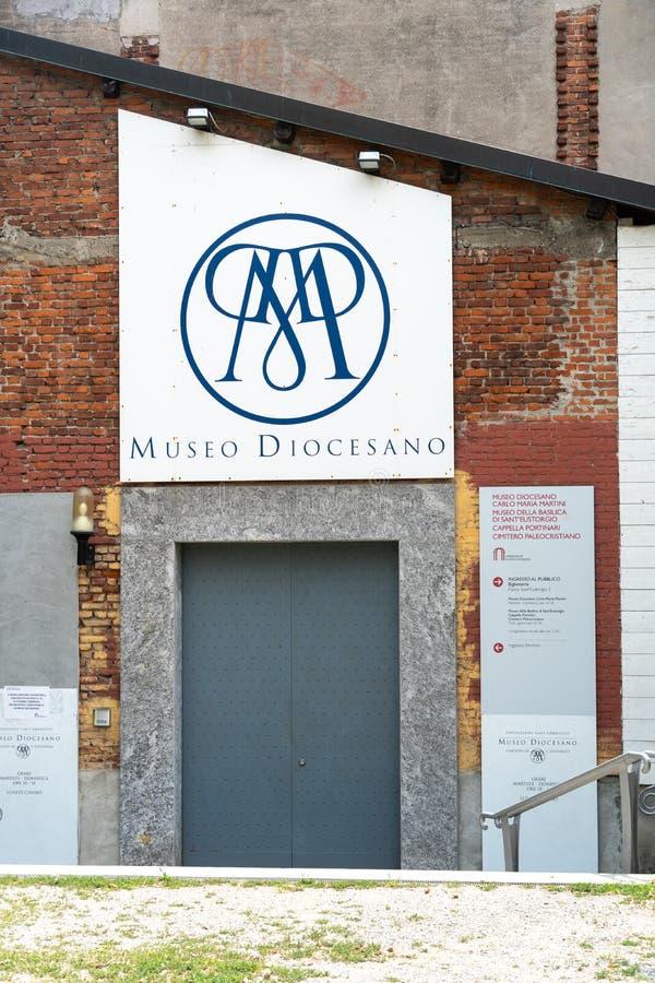 克罗玛丽亚马蒂尼鸡尾酒主教管区博物馆,米兰,意大利 库存照片
