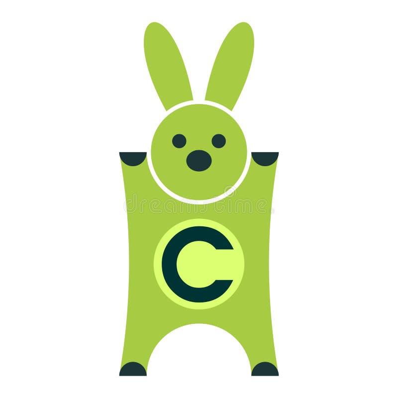 兔子优惠券商标传染媒介 向量例证