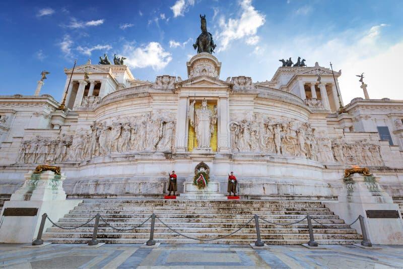 国家历史文物的战士在罗马在好日子,意大利 免版税库存照片