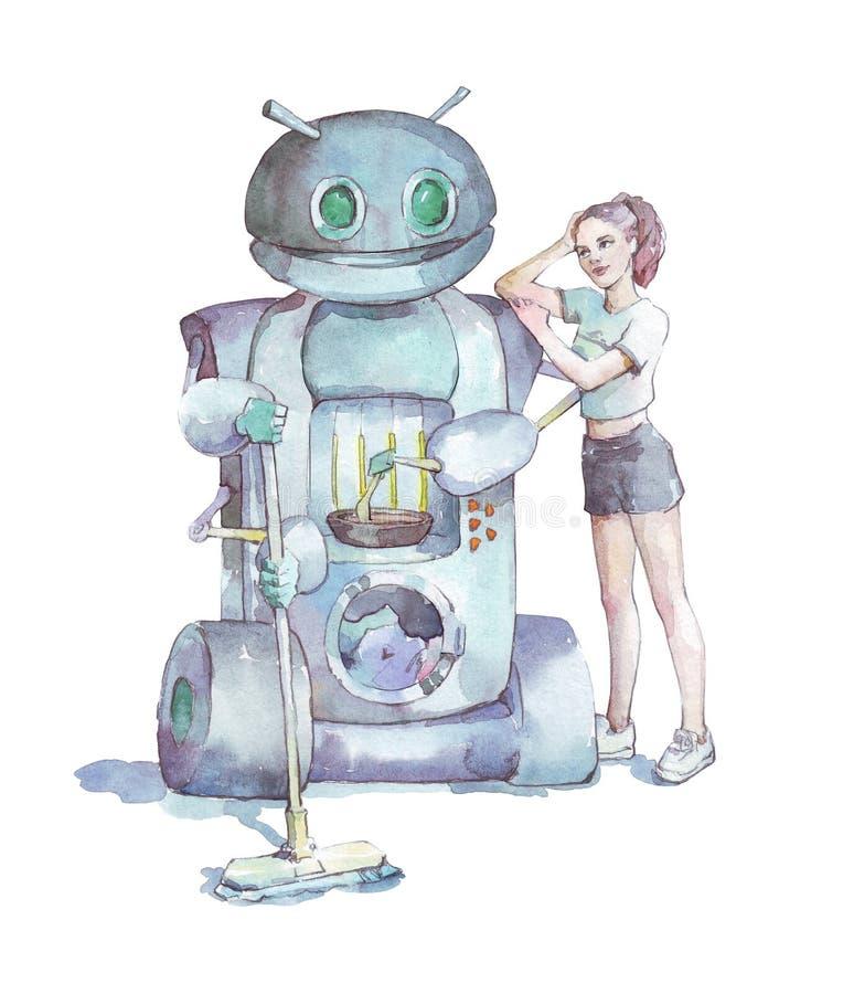 国内机器人工作例证 库存例证